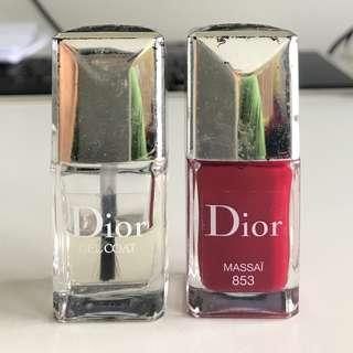 Christian Dior nail polish & gel coat
