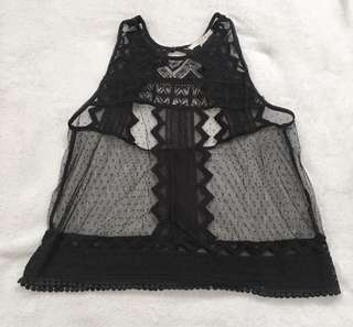 Forever 21 See Through Lace Top