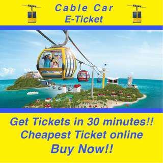 Roundtrip Cable Car E-Ticket