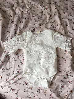 Baby lace romper