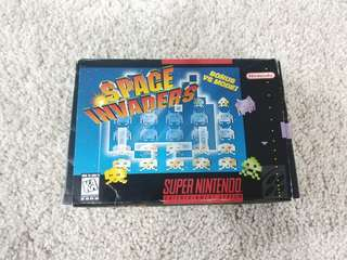 Super Nintendo snes game space invaders