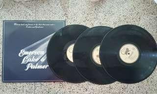 經典懷舊英文 LP黑膠唱片 - Emerson Lake & Palmer, 三隻黑膠唱片