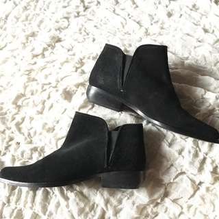 Mango Black Suede Boots