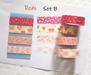 Reds washi samples Set B