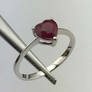 18K白金戒指 1卡紅寶 18K Withe gold Ring 1.00ct Ruby 可議價