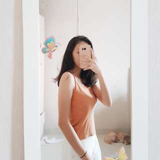 Zara Look Alike Burnt Orange Halter