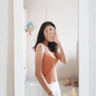 Zara Look Alike Burnt Orange Halter