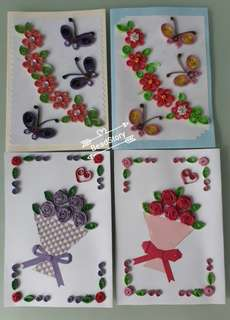 10% off 洐纸卡片Paper Quilling Card