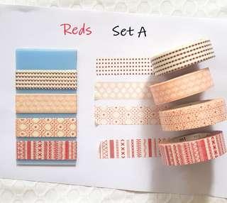 Reds washi samples Set A