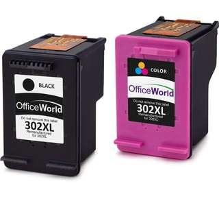 Officeworld ink 302XL colour & black