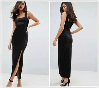 🐋Body con Dress  with slit