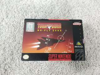 Super Nintendo snes game turn and burn no - fly zone