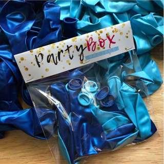 Blue Combo Metallic Balloons (10's)