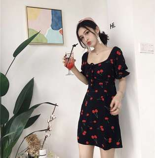 Cherry French Dress