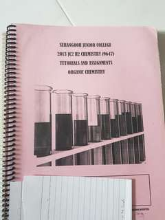 SRJC H2 Chemistry organic chemistry tutorials and assignments