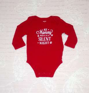 """""""Carter's"""" Red Onesies for Christmas"""