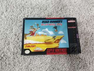 Super Nintendo snes game road runner's death valley rally