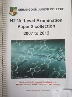 H2 chemistry A Level Exam paper 2 collection