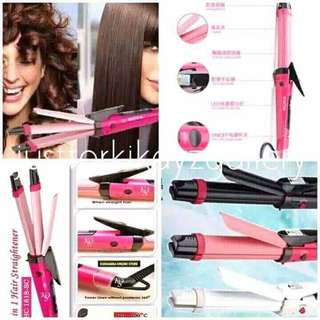2in1 HAIR CURLER & STRAIGHT