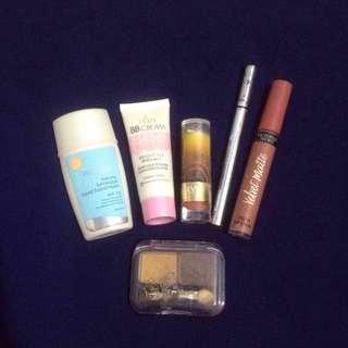 Lipstick Foundation Eyeliner Eyeshadow