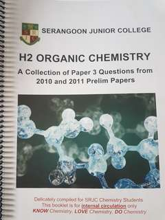 H2 organic chemistry prelim papers paper 3 collection