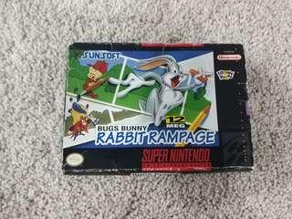 Super Nintendo snes game bugs bunny rabbit rampage