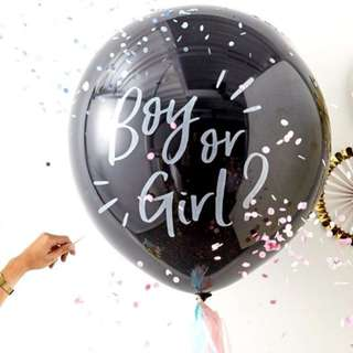 """36"""" Gender Reveal Pop-to-see Balloon"""