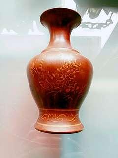中國欽州泥興陶花瓶