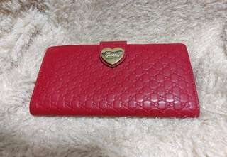 Gucci leather long wallet 皮長銀包