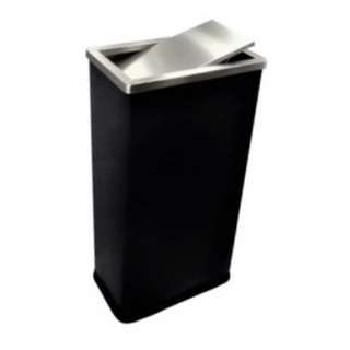 Stainless Steel Bin Rectangular c/w Flip Top (Black-Wrapped)