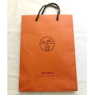 Hermes small paper shopping bag 購物紙袋