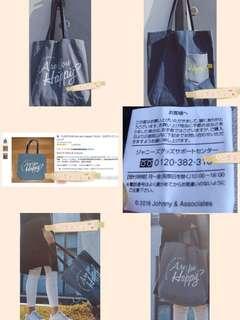 日本正品 嵐 ARASHI 小清新牛仔帆布單肩包👍🏻📮包郵