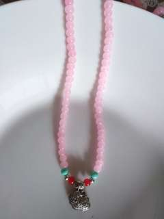 😆CLEARANCE! ONE PIECE ONLY! Natural Rose Quartz beads Necklace