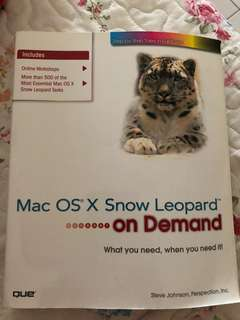 MAC OS X snow leopard on demand guide