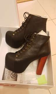 Jeffrey Campbell Lita Black Leather AU8