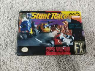 Super nintendo snes game stunt race fx