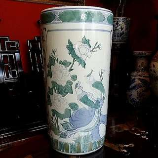 Chinese Antique Vintage Vase Handpainted Birds Flowers