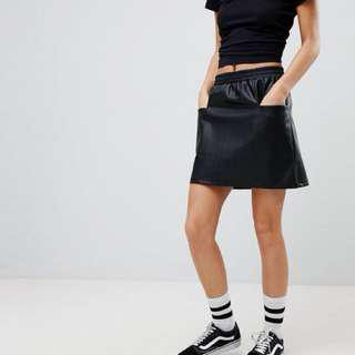 Noisy May Leather Skirt