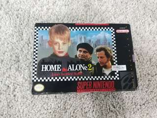 Super nintendo snes game home alone 2 lost in new york