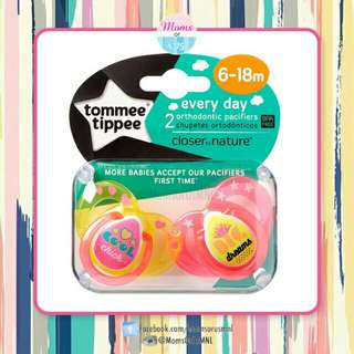 "‼️NEW‼️TOMMEE TIPPEE CTN ""EVERYDAY"" Pacifier 6-18m (GIRLS)"