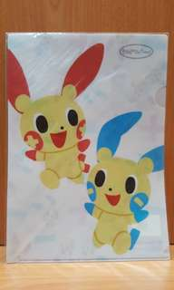 BNIP Exclusive Pokemon Centre A4 Folder (Plusle Minun)