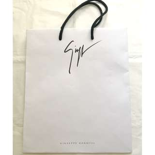 Giuseppe Zanotii white paper shopping bag 購物紙袋