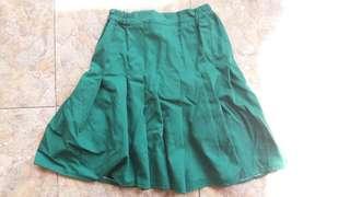 Dark Green Tennis Skirt - Rok Tenis Wanita