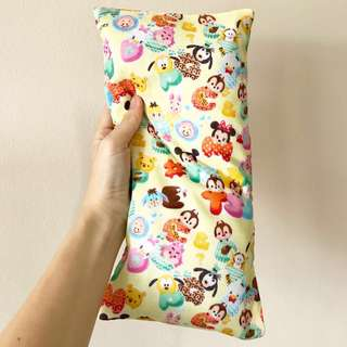 Double Gauze Cotton Bean Sprout Husk Pillow / Beanie Pillow , Imported Fabric from Japan ( 100% Handmade 100% Cotton , Premium Quality!) Disney Tsum Tsum