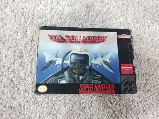 Super Nintendo snes game u.n. squadron