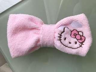 Hello Kitty 毛巾質地頭帶