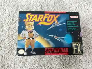 Super nintendo snes star fox StarFox