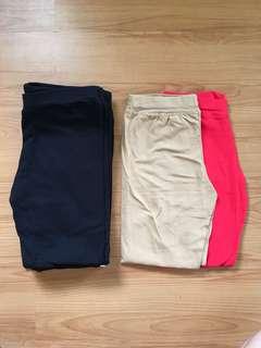 cotton & spandex leggings