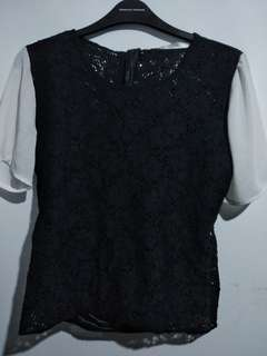Something Borrowed Lace Top