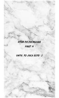 PO FOCALLURE UNTIL 10 JULY 2018